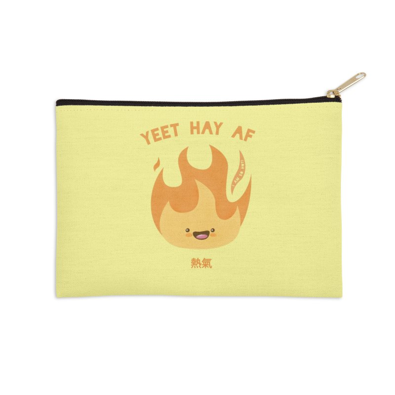 I Am So Hot – Yeet Hay AF Accessories Zip Pouch by empty bamboo girl Artist Shop