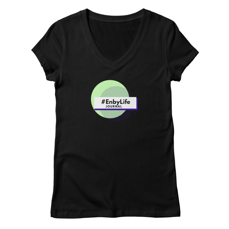 #EnbyLife Journal Women's V-Neck by #EnbyLife's Artist Shop