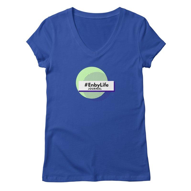 #EnbyLife Journal Women's V-Neck by #EnbyLife's Artist Shop