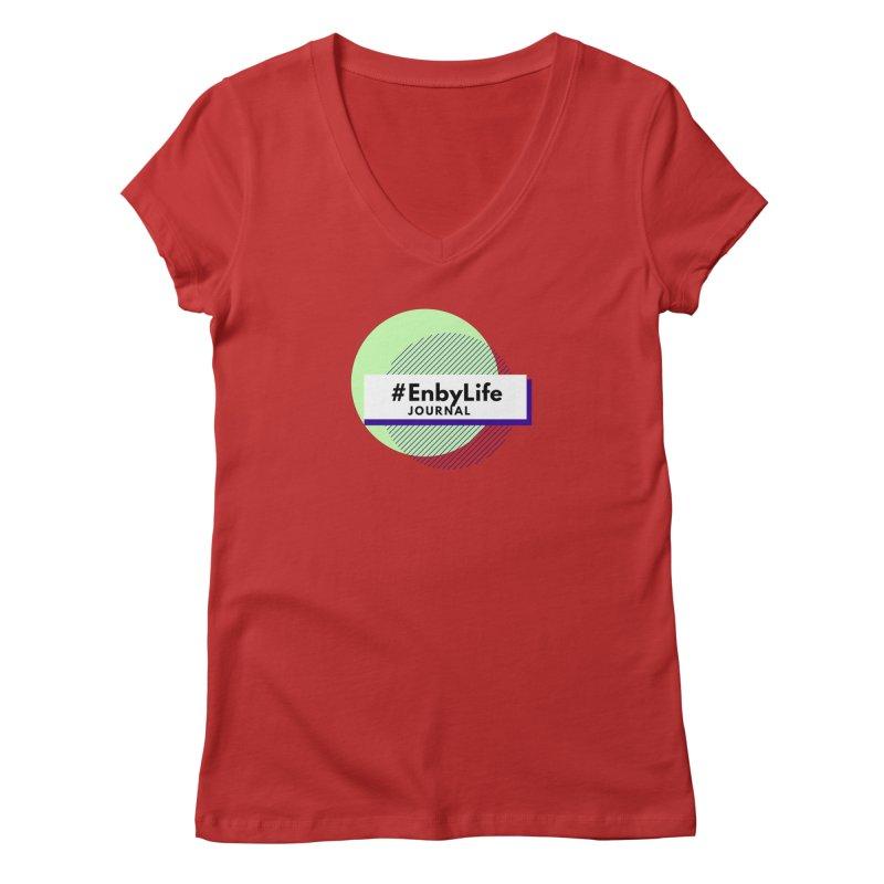 #EnbyLife Journal Women's Regular V-Neck by #EnbyLife's Artist Shop