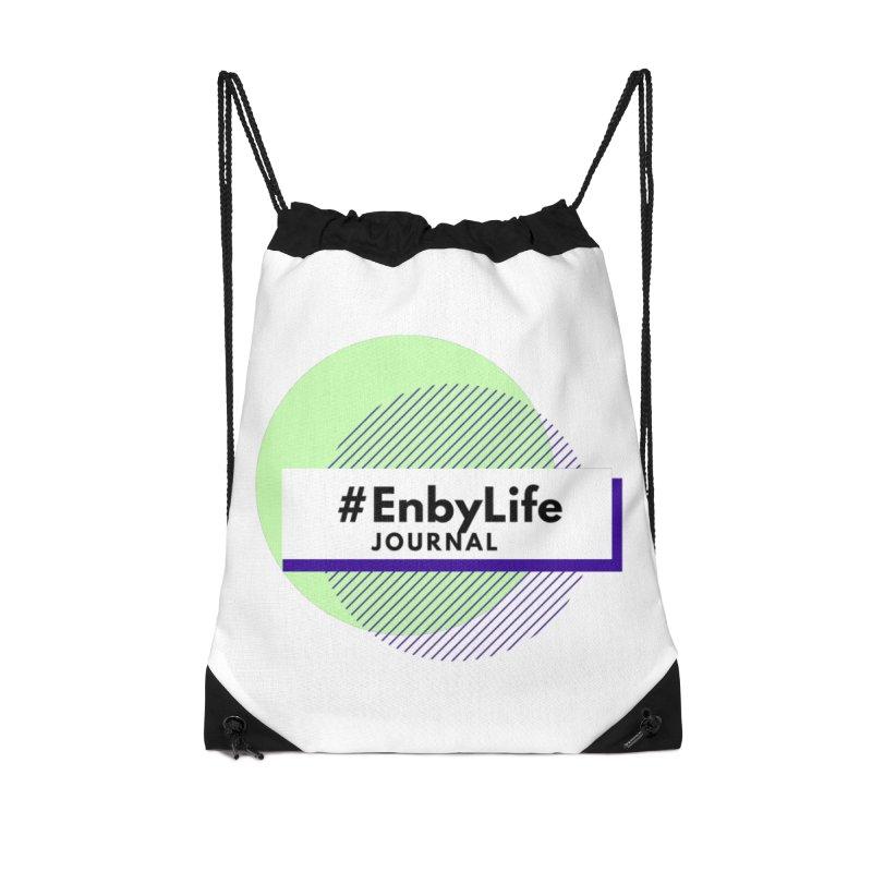 #EnbyLife Journal Accessories Drawstring Bag Bag by #EnbyLife's Artist Shop