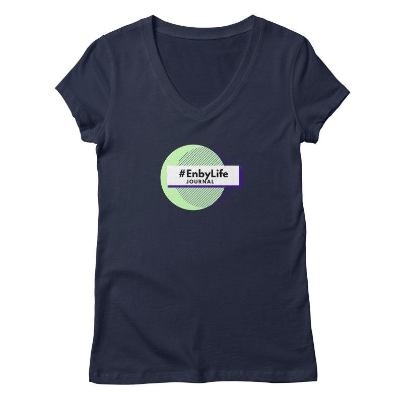 #EnbyLife Reboot Women's Regular V-Neck by #EnbyLife's Artist Shop