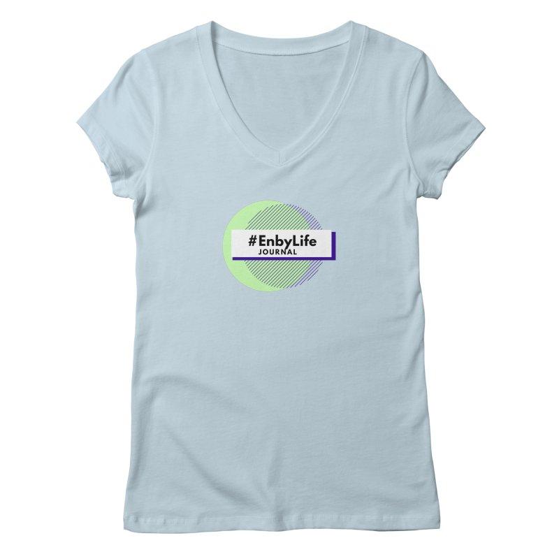 #EnbyLife Reboot Women's V-Neck by #EnbyLife's Artist Shop