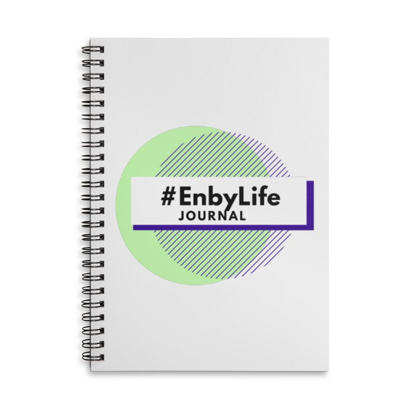 #EnbyLife Reboot Accessories Lined Spiral Notebook by #EnbyLife's Artist Shop