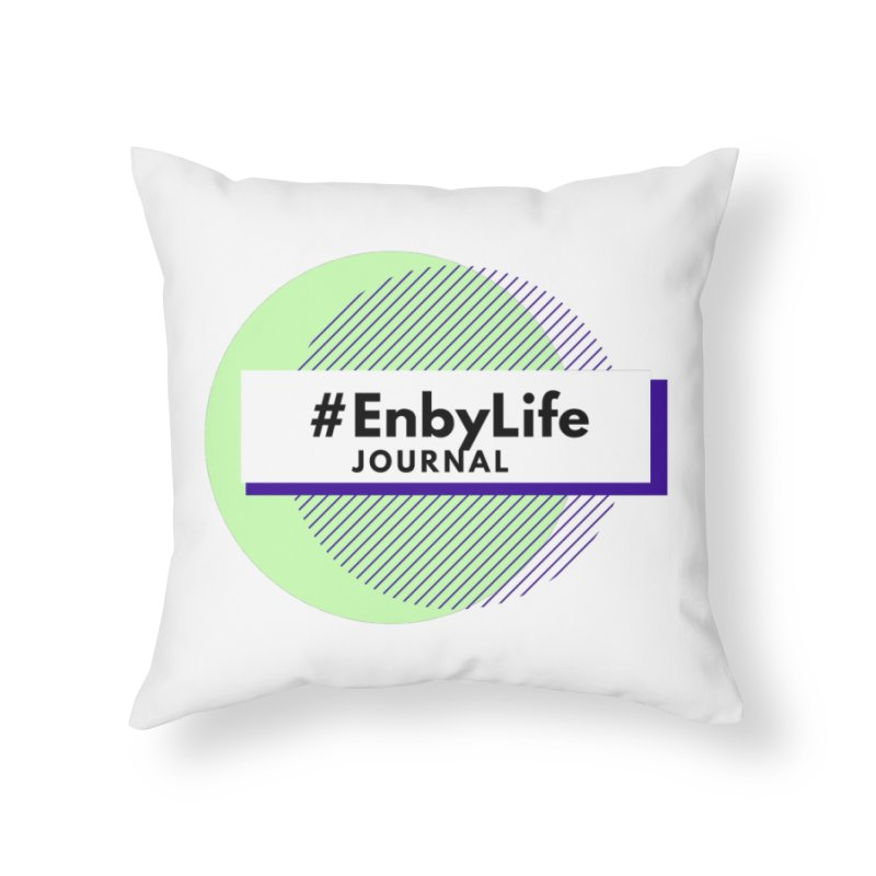 #EnbyLife Reboot Home Throw Pillow by #EnbyLife's Artist Shop