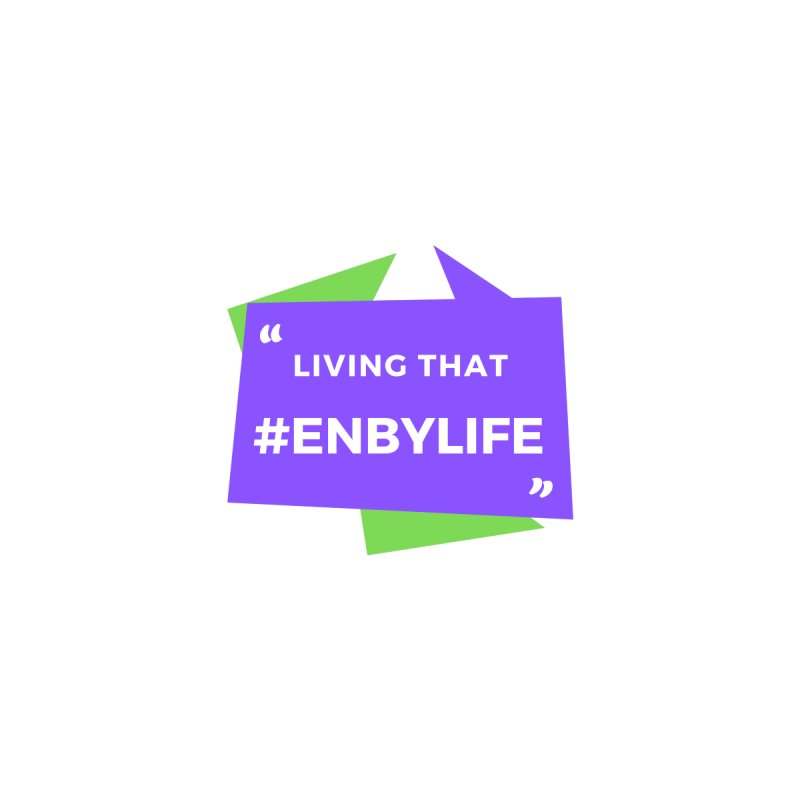 Living that #EnbyLife Men's Sweatshirt by #EnbyLife's Artist Shop
