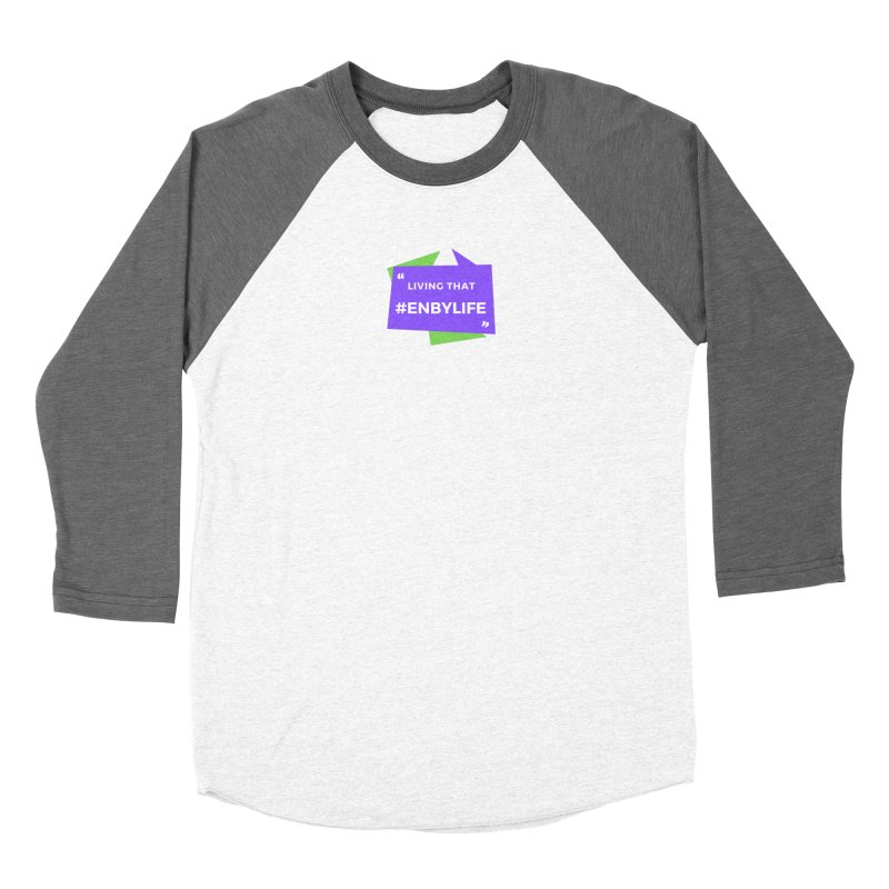 Living that #EnbyLife Women's Longsleeve T-Shirt by #EnbyLife's Artist Shop