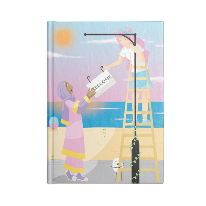 Companions - Welcome Sign Accessories Lined Journal Notebook by Rachel Yelding | enchantedviolin