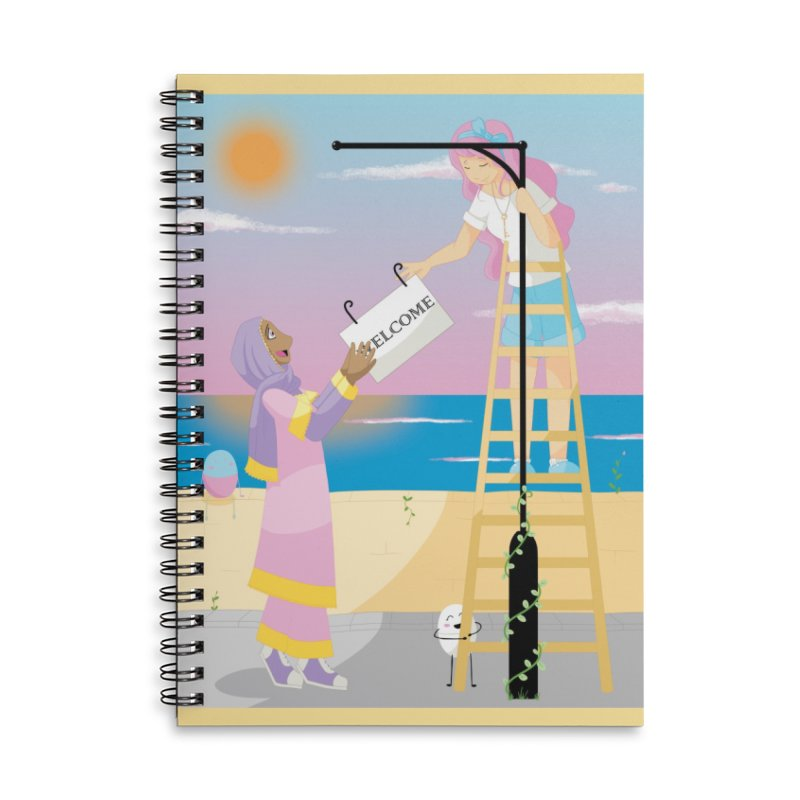 Companions - Welcome Sign Accessories Lined Spiral Notebook by Rachel Yelding | enchantedviolin