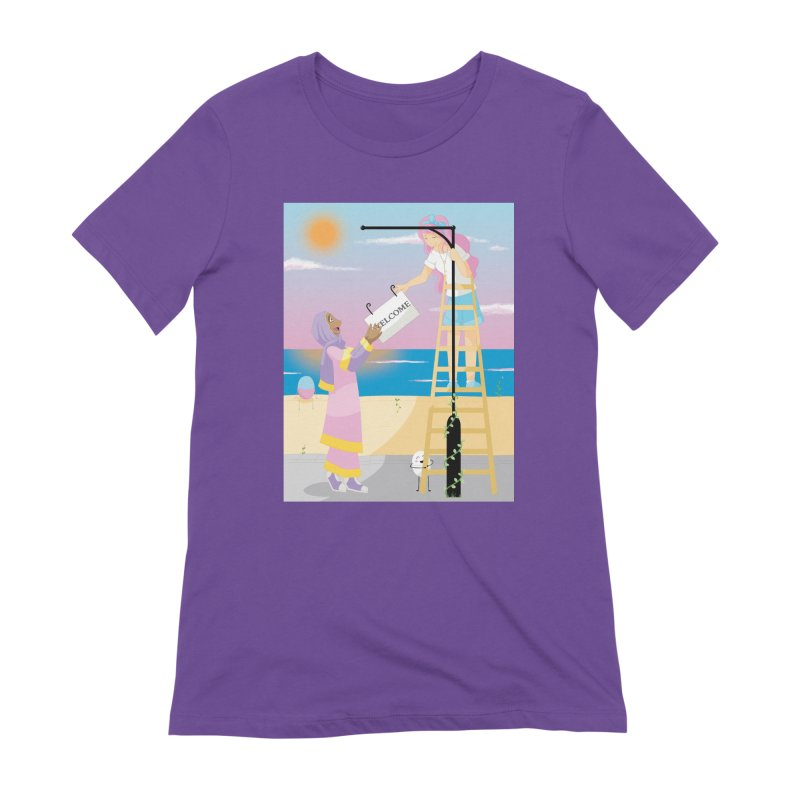 Companions - Welcome Sign Women's Extra Soft T-Shirt by Rachel Yelding | enchantedviolin