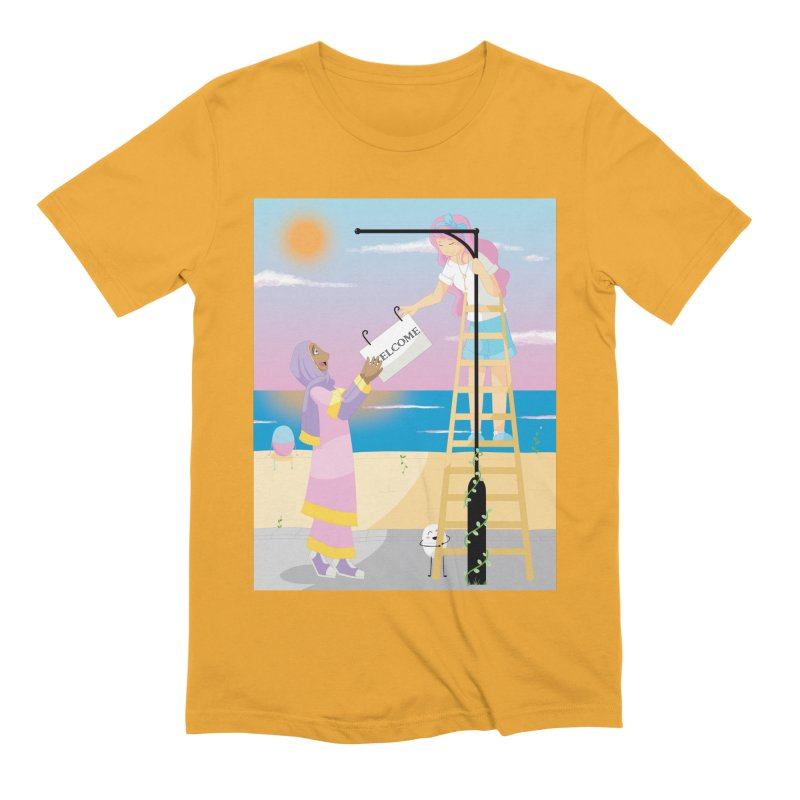 Companions - Welcome Sign Men's Extra Soft T-Shirt by Rachel Yelding | enchantedviolin