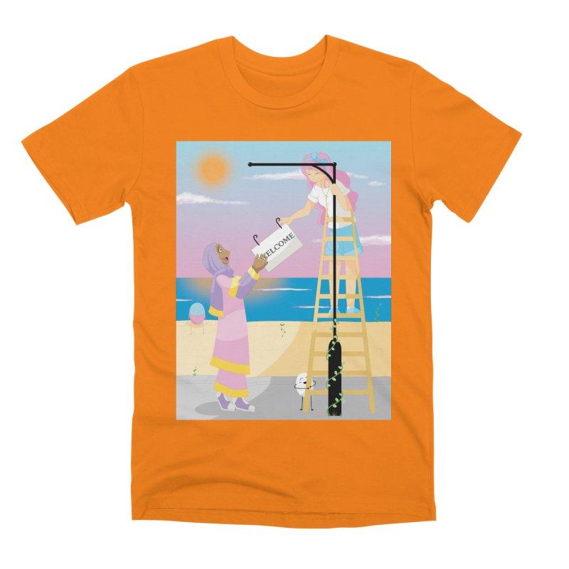 Companions - Welcome Sign Men's T-Shirt by Rachel Yelding | enchantedviolin