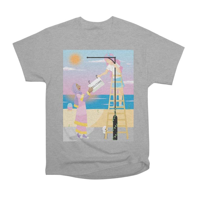 Companions - Welcome Sign Men's Heavyweight T-Shirt by Rachel Yelding | enchantedviolin
