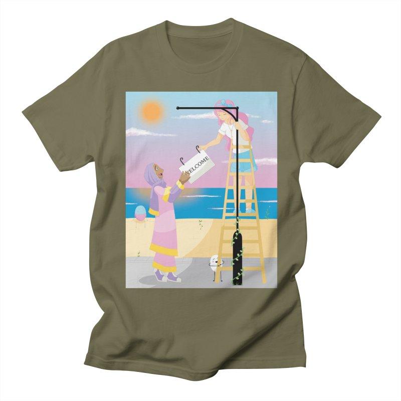 Companions - Welcome Sign Women's Regular Unisex T-Shirt by Rachel Yelding | enchantedviolin