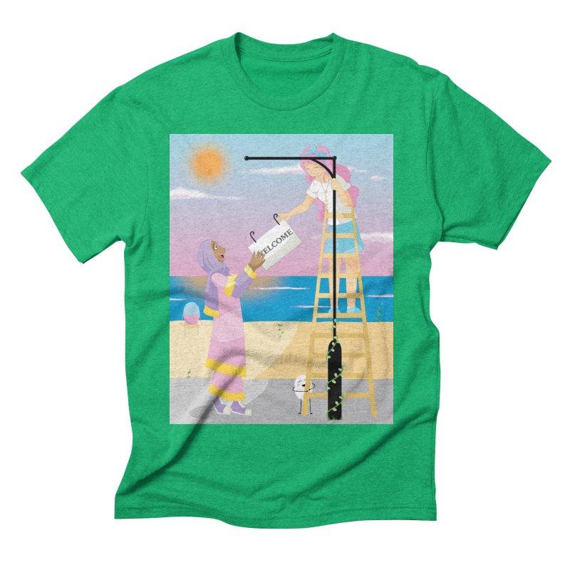 Companions - Welcome Sign Men's Triblend T-Shirt by Rachel Yelding   enchantedviolin