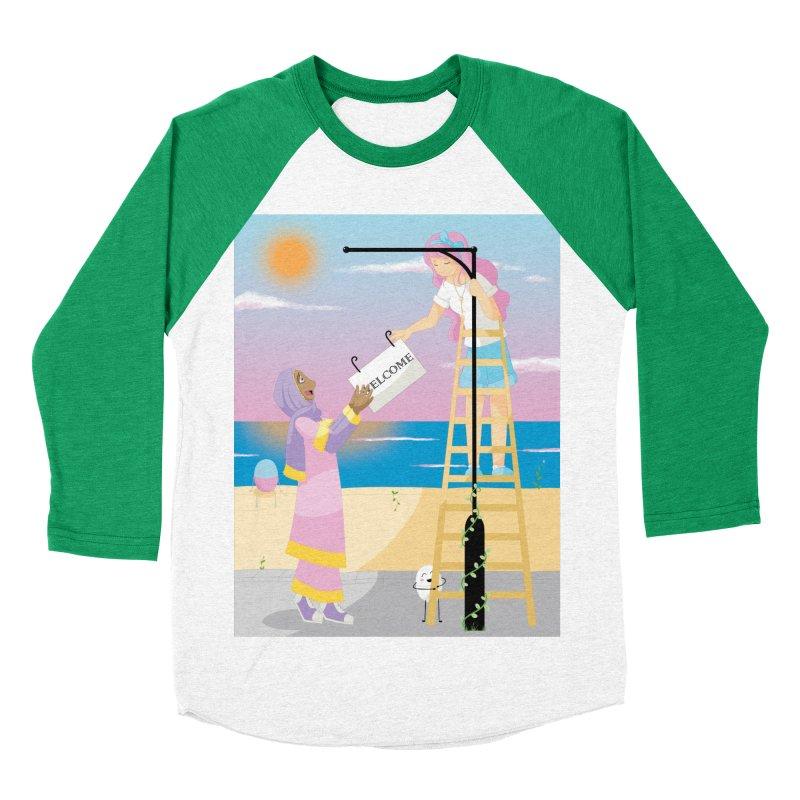 Companions - Welcome Sign Women's Baseball Triblend Longsleeve T-Shirt by Rachel Yelding   enchantedviolin