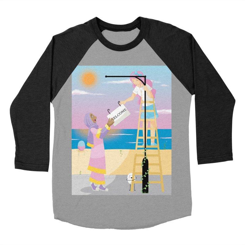 Companions - Welcome Sign Women's Baseball Triblend Longsleeve T-Shirt by Rachel Yelding | enchantedviolin