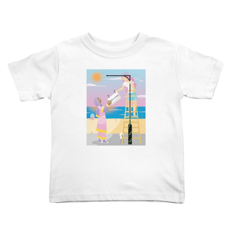 Companions - Welcome Sign Kids Toddler T-Shirt by Rachel Yelding | enchantedviolin
