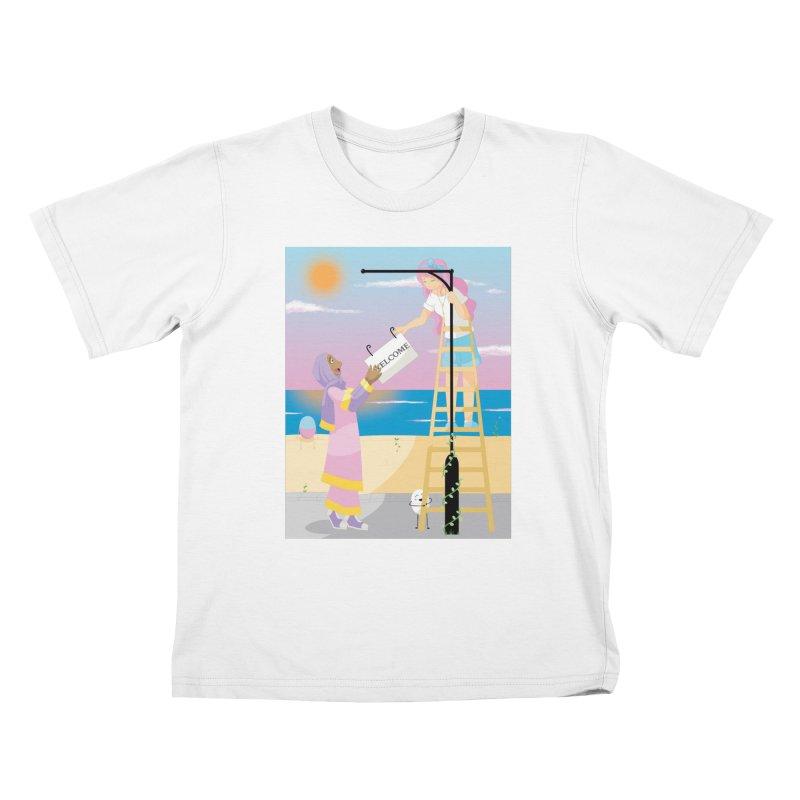 Companions - Welcome Sign Kids T-Shirt by Rachel Yelding | enchantedviolin