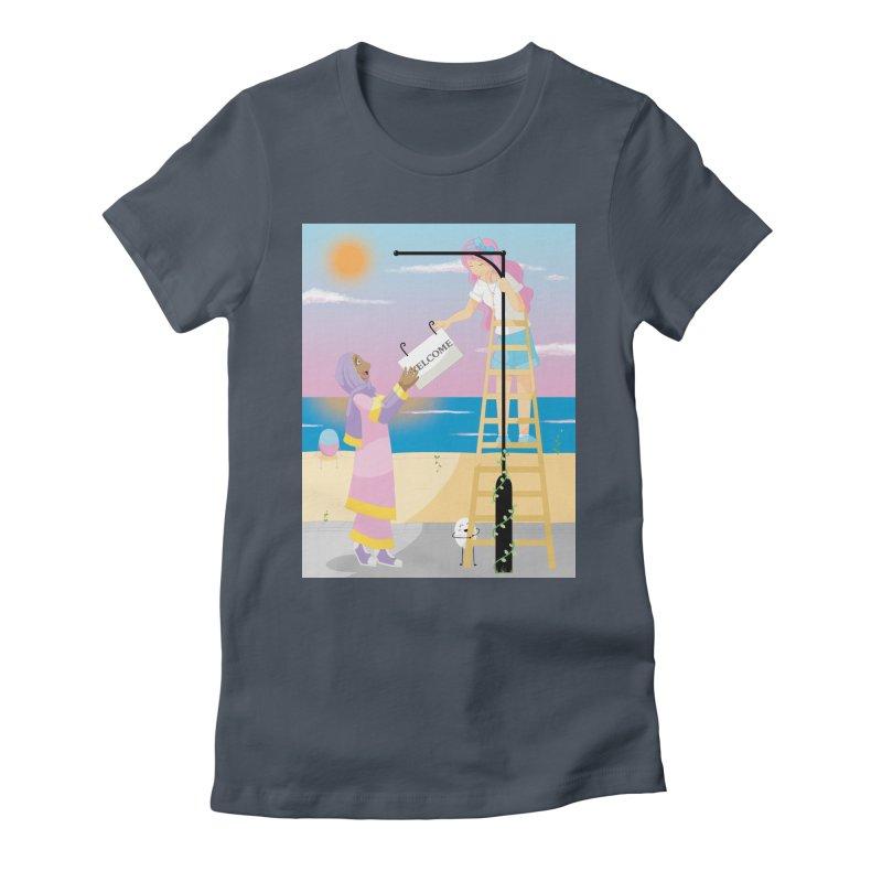 Companions - Welcome Sign Women's T-Shirt by Rachel Yelding | enchantedviolin