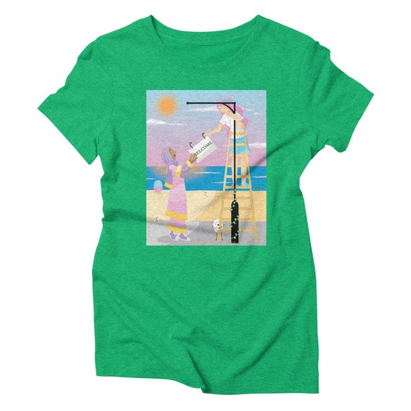 Companions - Welcome Sign Women's Triblend T-Shirt by Rachel Yelding | enchantedviolin