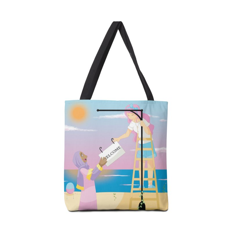 Companions - Welcome Sign Accessories Tote Bag Bag by Rachel Yelding | enchantedviolin