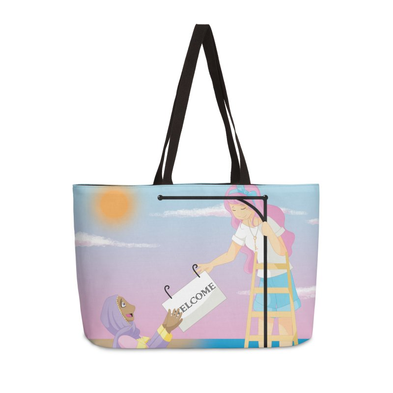 Companions - Welcome Sign Accessories Weekender Bag Bag by Rachel Yelding | enchantedviolin