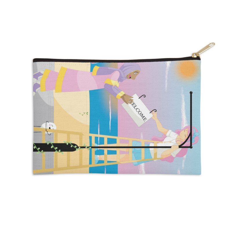Companions - Welcome Sign Accessories Zip Pouch by Rachel Yelding | enchantedviolin