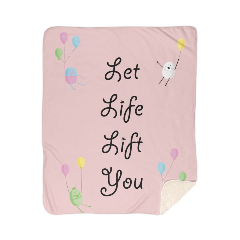 Companions - Let Life Lift You Home Sherpa Blanket Blanket by Rachel Yelding | enchantedviolin