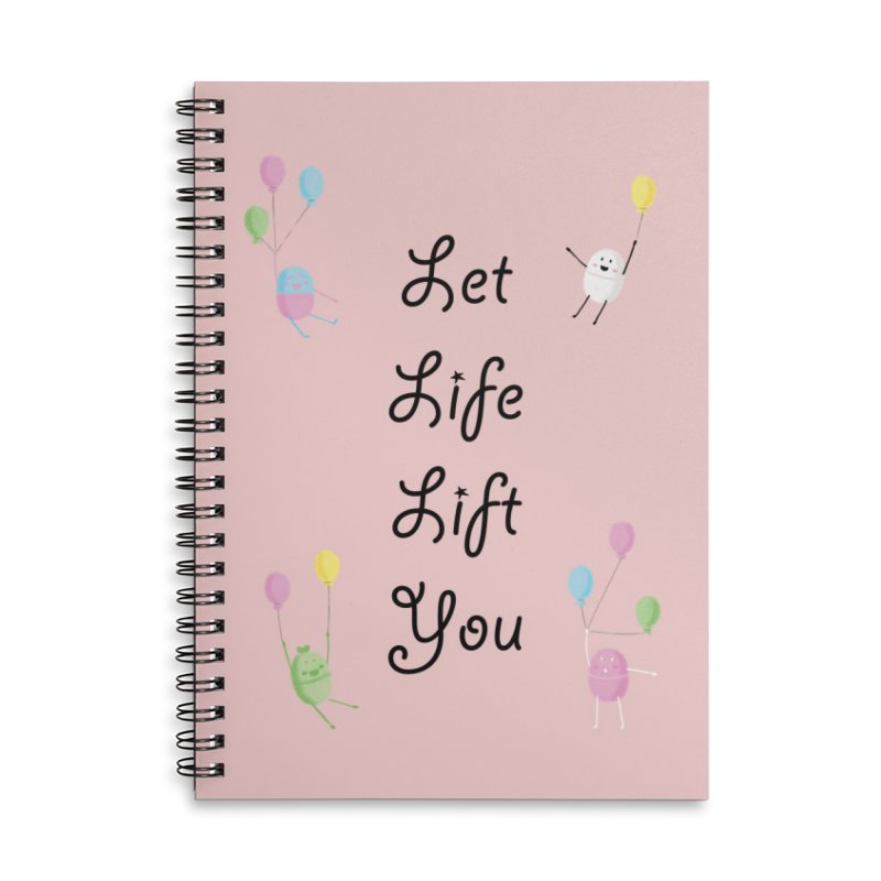 Companions - Let Life Lift You Accessories Lined Spiral Notebook by Rachel Yelding | enchantedviolin