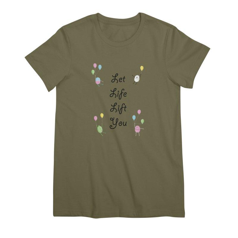 Companions - Let Life Lift You Women's Premium T-Shirt by Rachel Yelding   enchantedviolin
