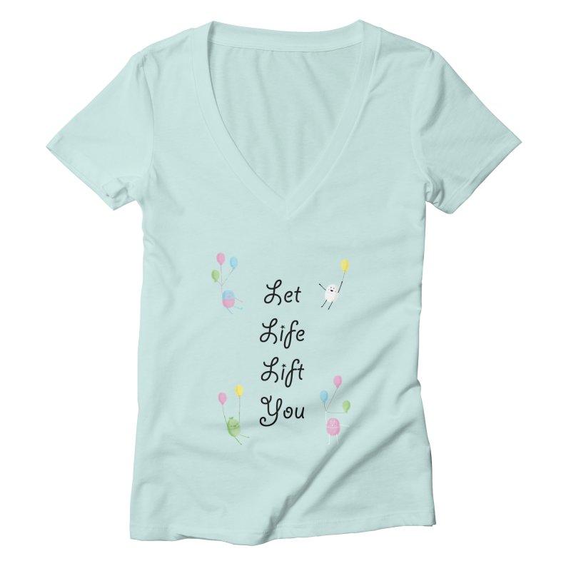Companions - Let Life Lift You Women's Deep V-Neck V-Neck by Rachel Yelding | enchantedviolin