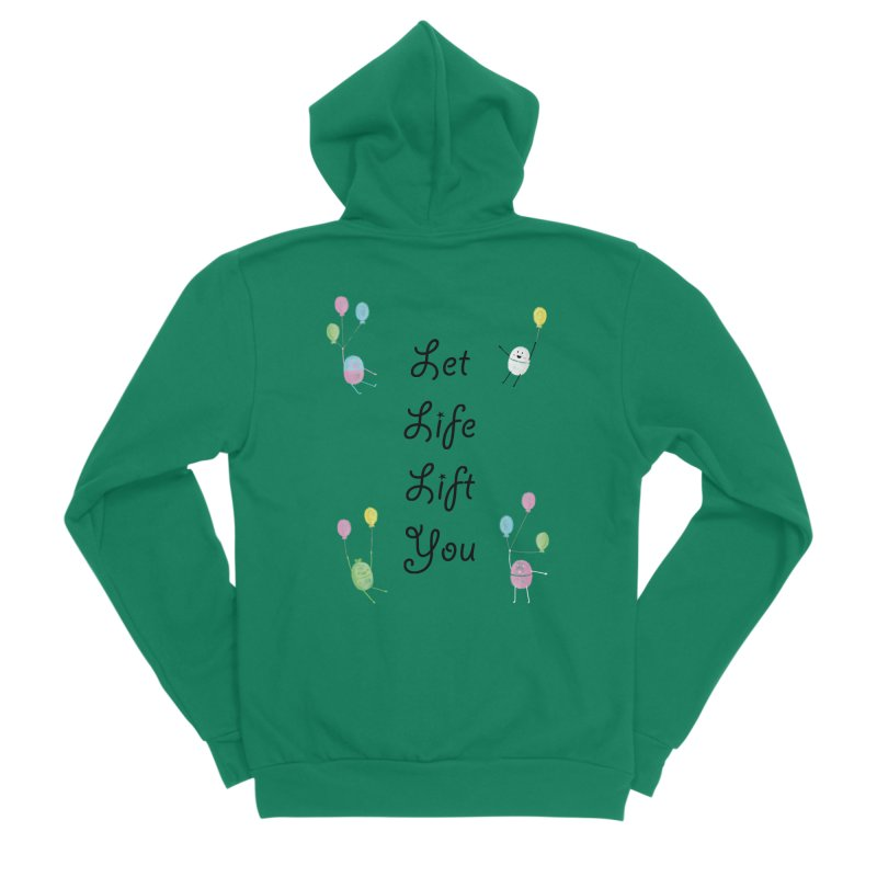 Companions - Let Life Lift You Women's Sponge Fleece Zip-Up Hoody by Rachel Yelding | enchantedviolin
