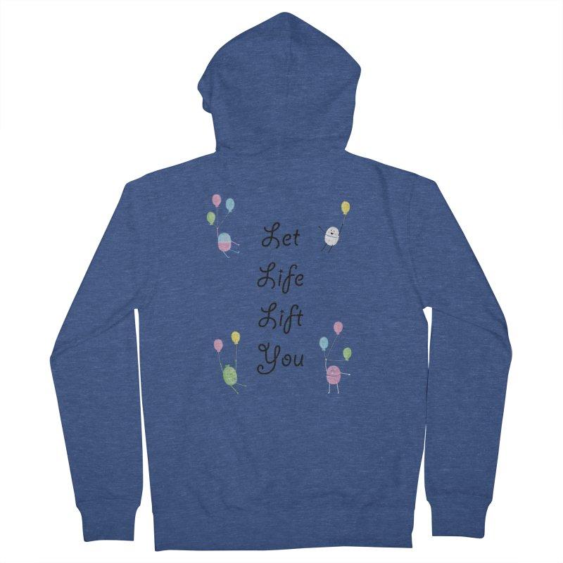 Companions - Let Life Lift You Women's French Terry Zip-Up Hoody by Rachel Yelding | enchantedviolin