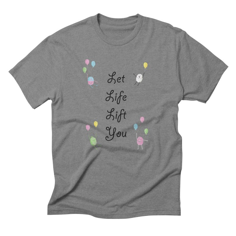 Companions - Let Life Lift You Men's Triblend T-Shirt by Rachel Yelding | enchantedviolin