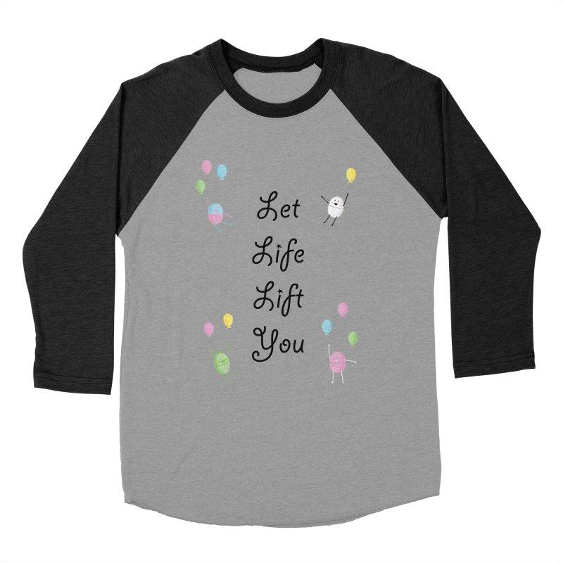 Companions - Let Life Lift You Men's Baseball Triblend Longsleeve T-Shirt by Rachel Yelding   enchantedviolin