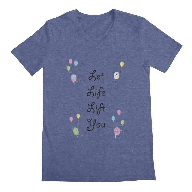 Companions - Let Life Lift You Men's Regular V-Neck by Rachel Yelding | enchantedviolin