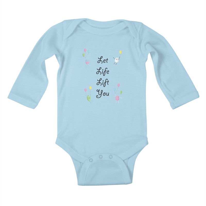 Companions - Let Life Lift You Kids Baby Longsleeve Bodysuit by Rachel Yelding | enchantedviolin