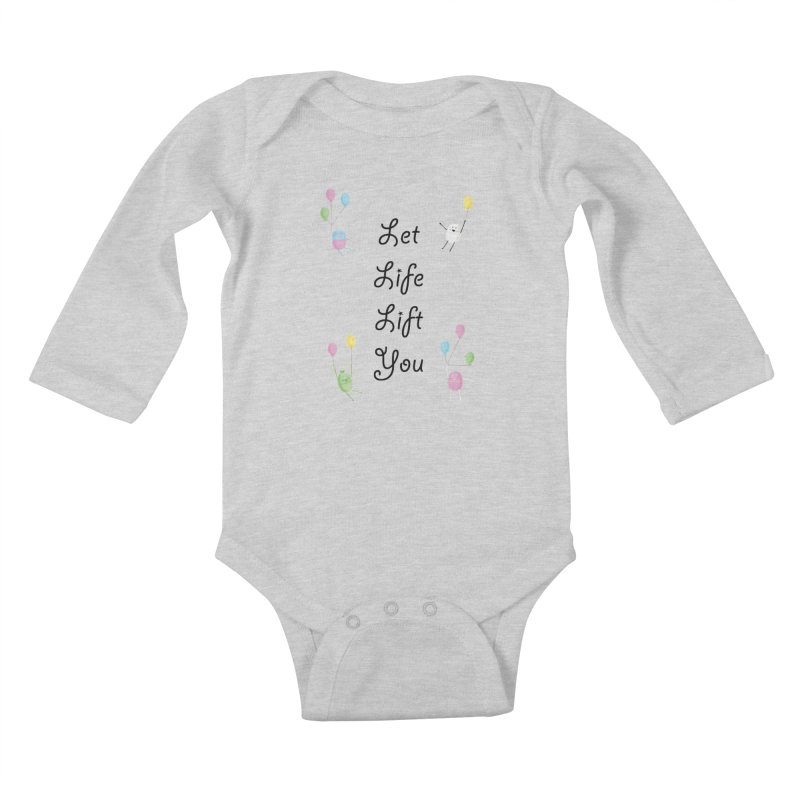 Companions - Let Life Lift You Kids Baby Longsleeve Bodysuit by Rachel Yelding   enchantedviolin