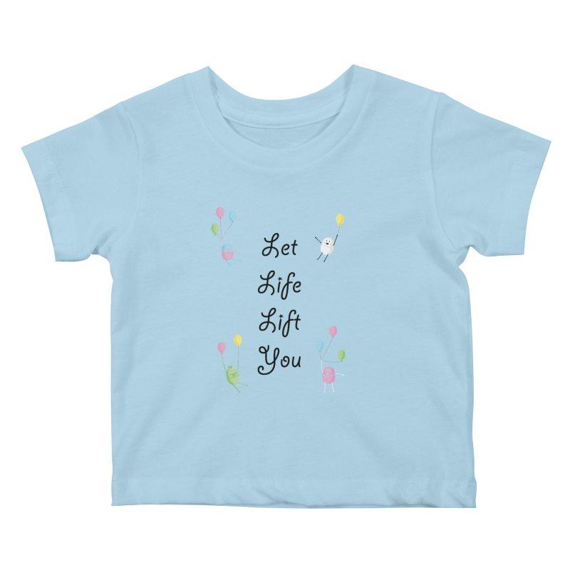 Companions - Let Life Lift You Kids Baby T-Shirt by Rachel Yelding | enchantedviolin