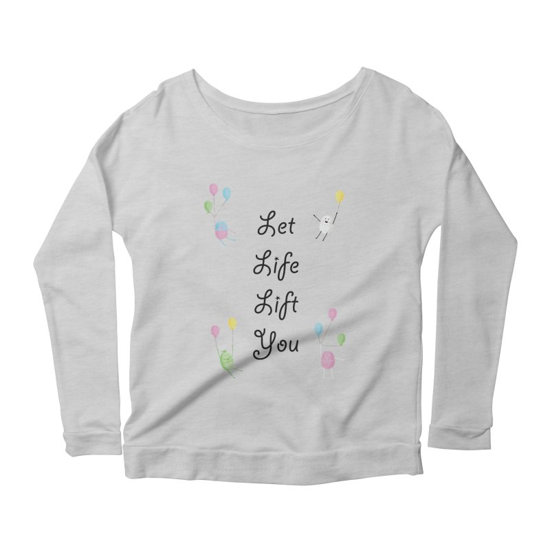 Companions - Let Life Lift You Women's Scoop Neck Longsleeve T-Shirt by Rachel Yelding | enchantedviolin