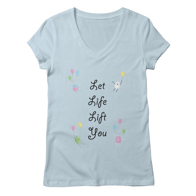 Companions - Let Life Lift You Women's Regular V-Neck by Rachel Yelding | enchantedviolin