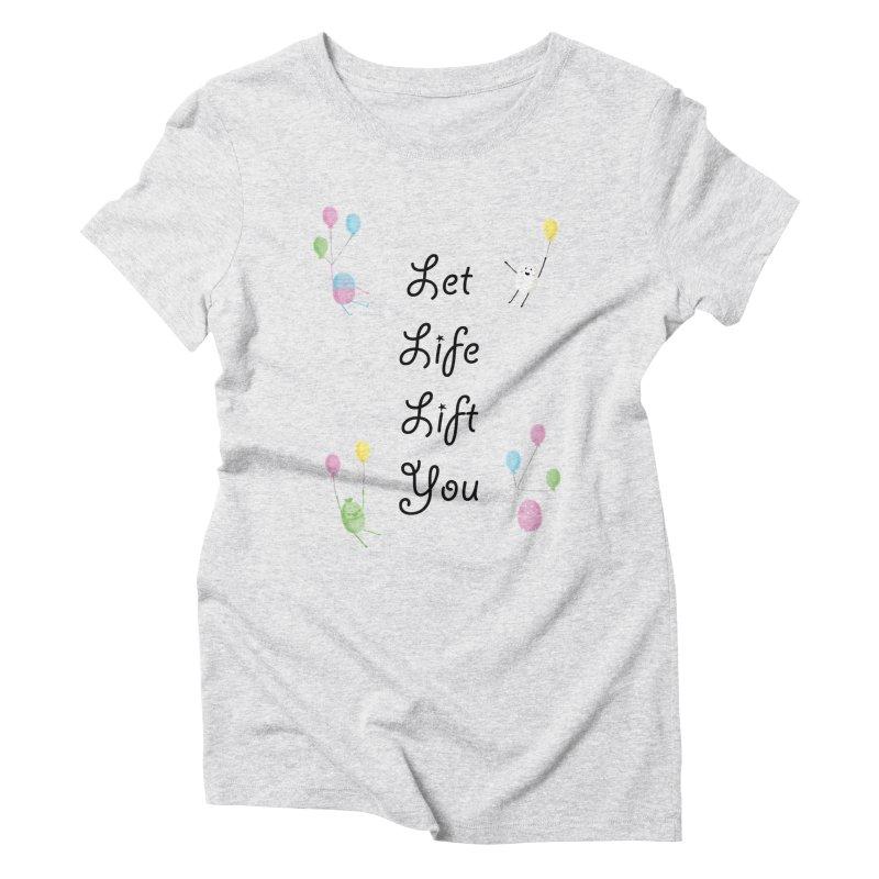Companions - Let Life Lift You Women's Triblend T-Shirt by Rachel Yelding | enchantedviolin
