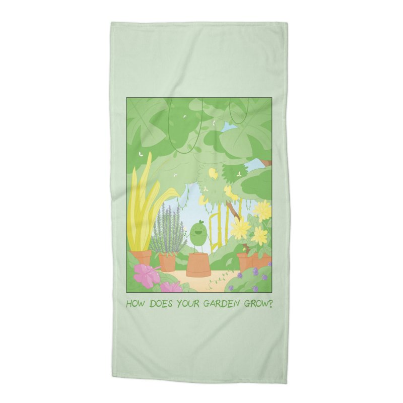 Companions - How Does Your Garden Grow? Accessories Beach Towel by Rachel Yelding | enchantedviolin