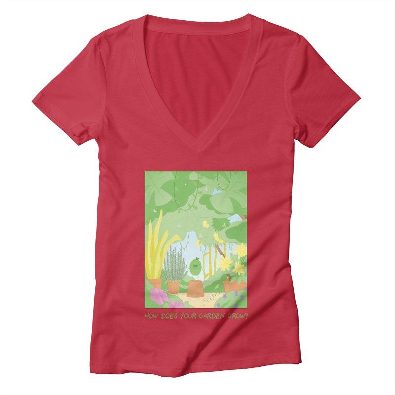 Companions - How Does Your Garden Grow? Women's Deep V-Neck V-Neck by Rachel Yelding   enchantedviolin