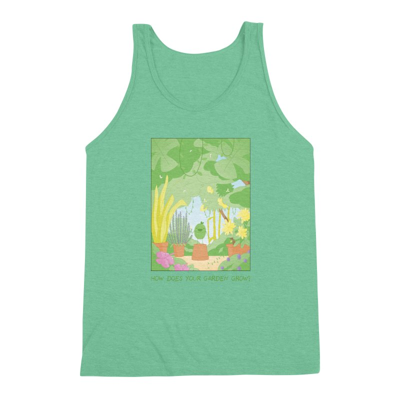 Companions - How Does Your Garden Grow? Men's Triblend Tank by Rachel Yelding | enchantedviolin