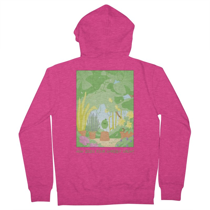 Companions - How Does Your Garden Grow? Women's French Terry Zip-Up Hoody by Rachel Yelding | enchantedviolin