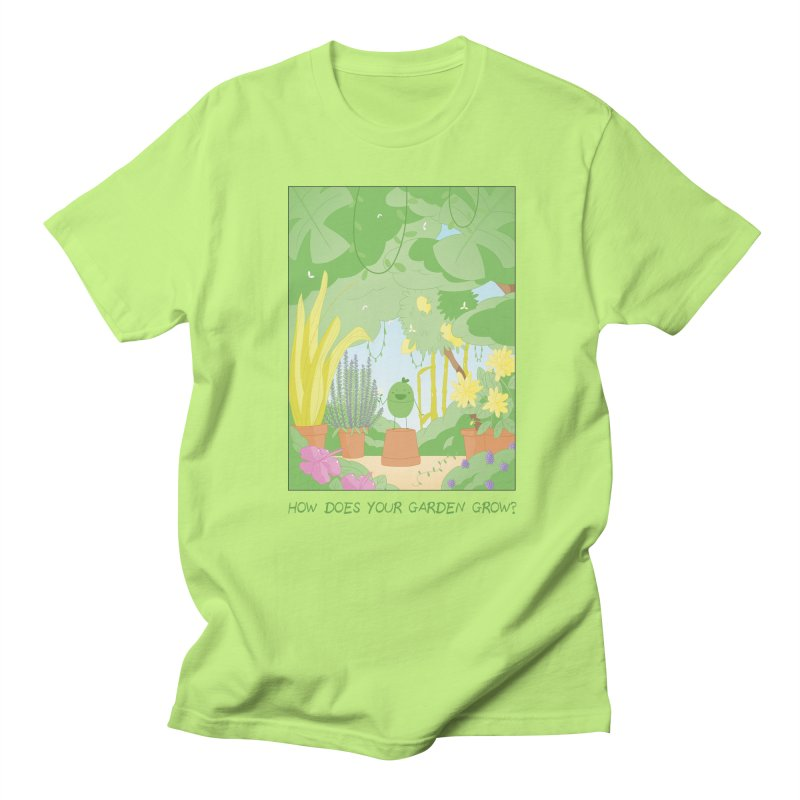 Companions - How Does Your Garden Grow? in Men's Regular T-Shirt Neon Green by Rachel Yelding | enchantedviolin