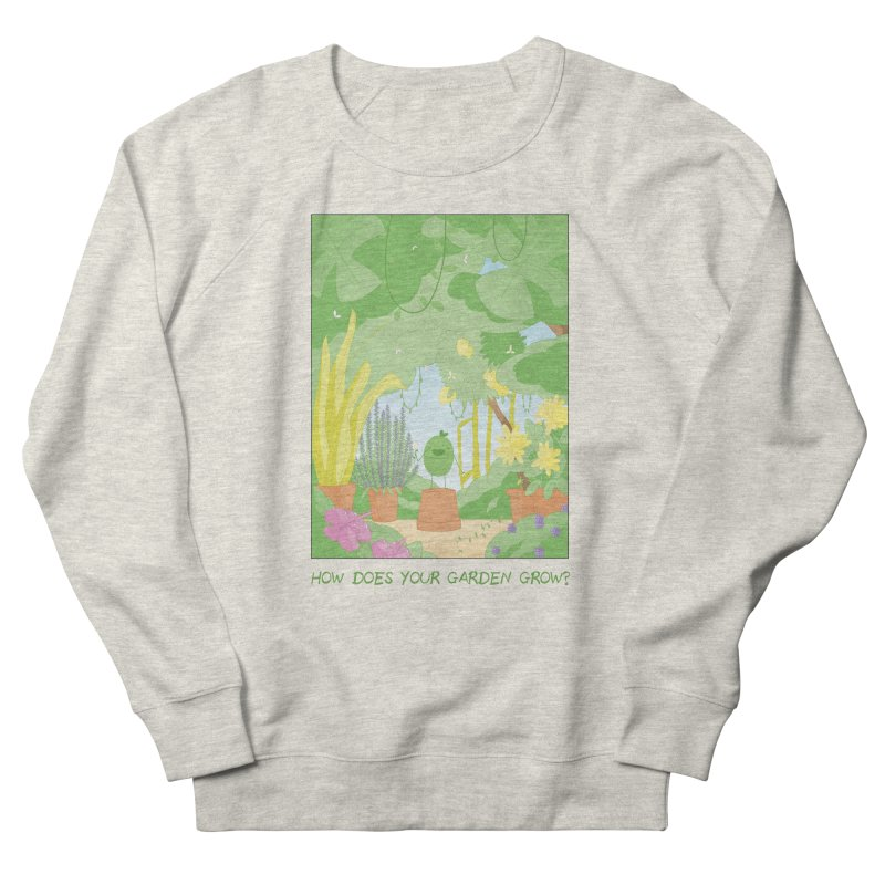 Companions - How Does Your Garden Grow? Men's French Terry Sweatshirt by Rachel Yelding | enchantedviolin