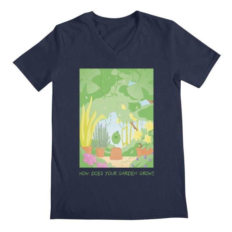Companions - How Does Your Garden Grow? Men's Regular V-Neck by Rachel Yelding | enchantedviolin